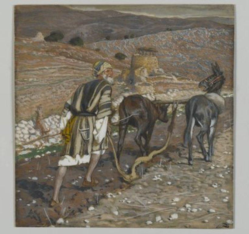 James Tissot (French, 1836-1902). The Man at the Plough (L'homme à la