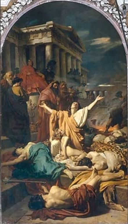 Antonio Ciseri's Martyrdom of the Seven Maccabees (1863), depicting the woman with her dead sons.