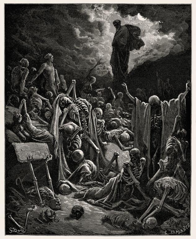 Ezekiel`s vision by Gustav Dore