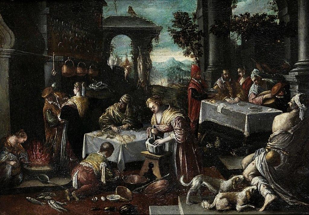 The Rich Man and Lazarus (Girolamo da Ponte)