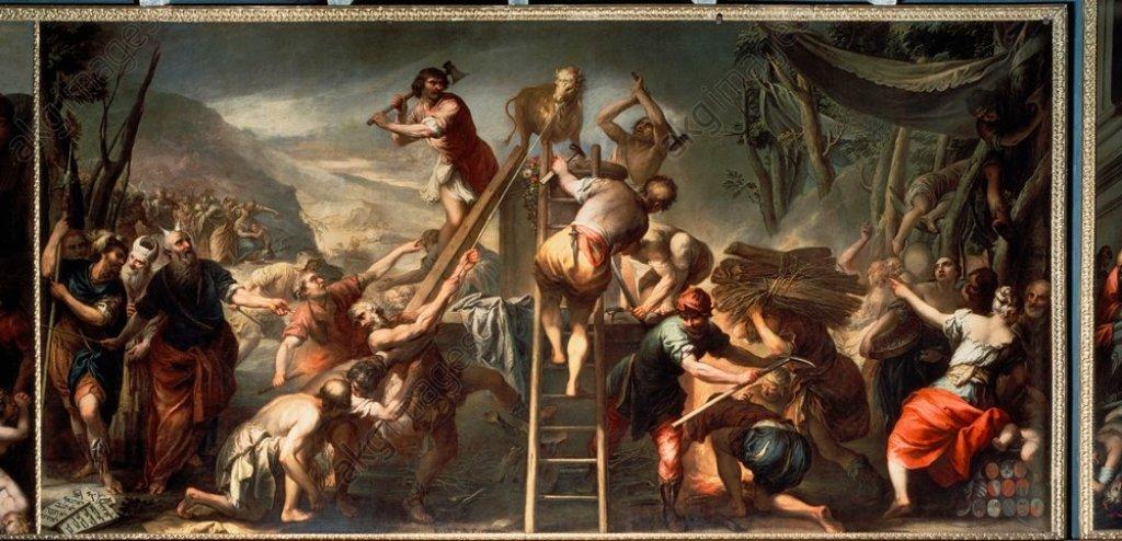 Moses Destroying the Golden Calf, Andrea Celesti 1681