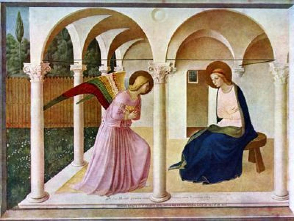 Annunciatiion by Dominican Monk Fra Angelico