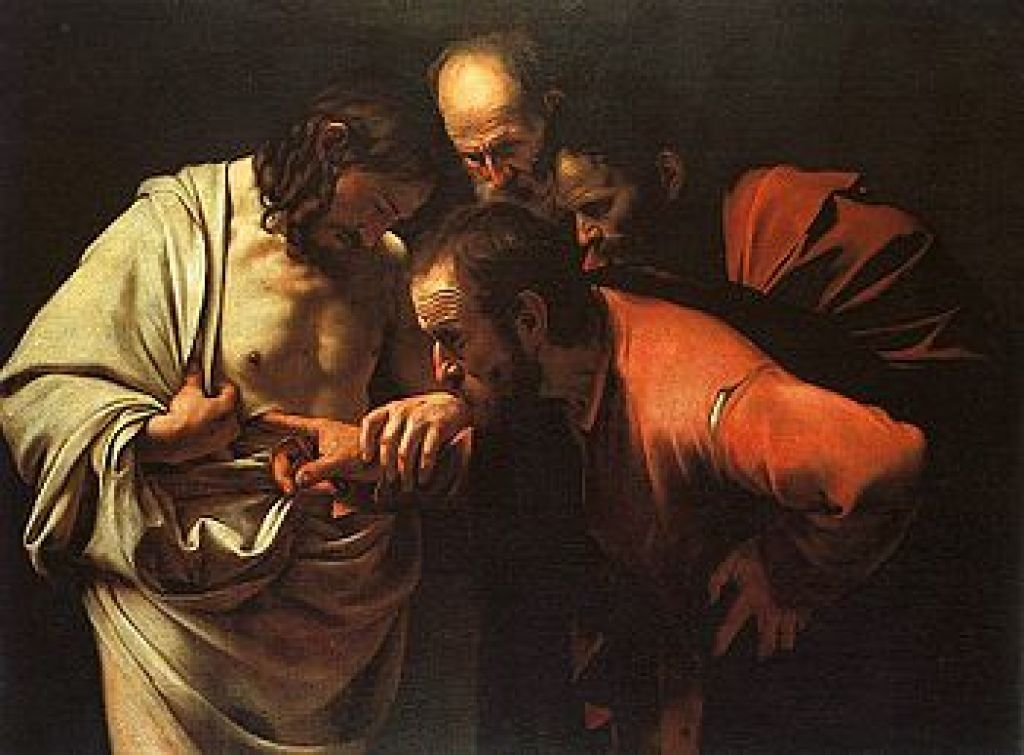 The Incredulity of Saint Thomas by Caravaggio, c. 1602