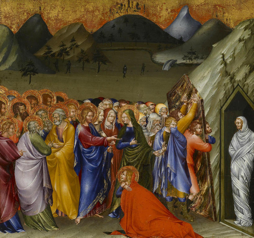 The Ressurection of Lazarus by  Giovanni di Paolo