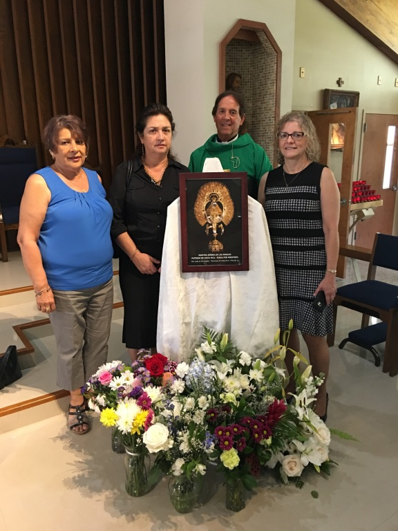 Our Lady of Angels received by parishioners of Most Holy Name of Jesus
