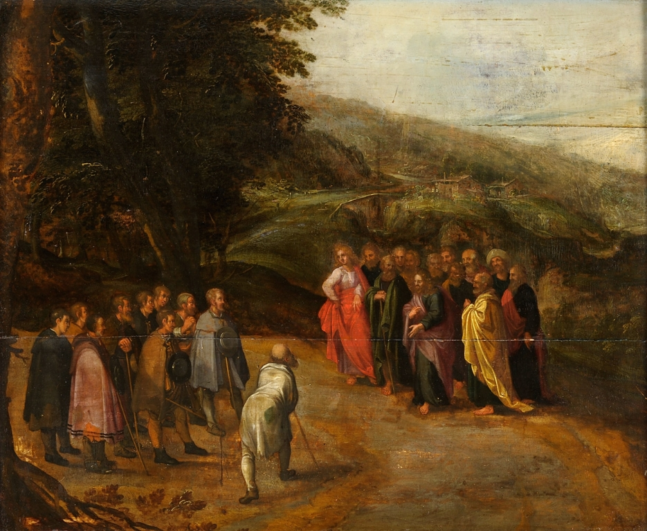 Jesus and the ten Lepers (Anonymous, 17th century)