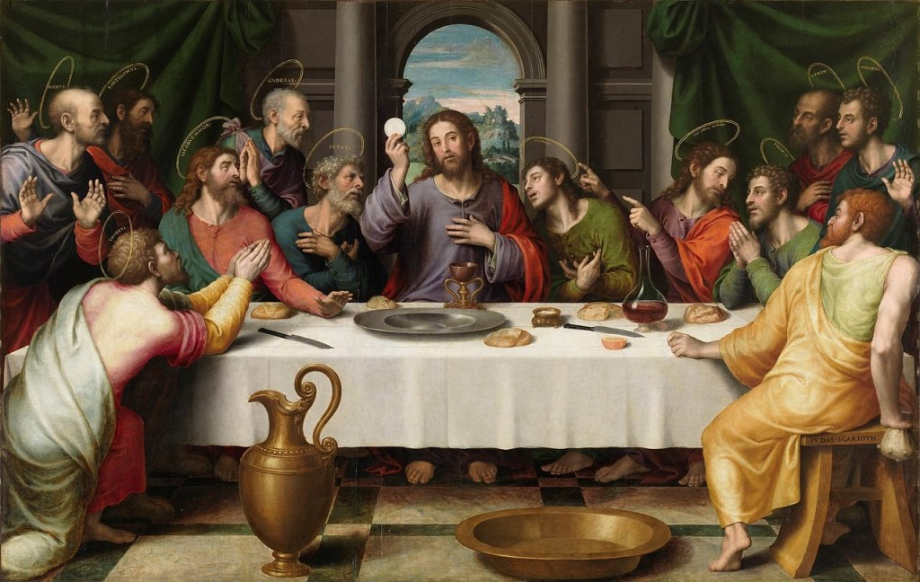Last Supper by Juan de Juanes, mid-late 16th century