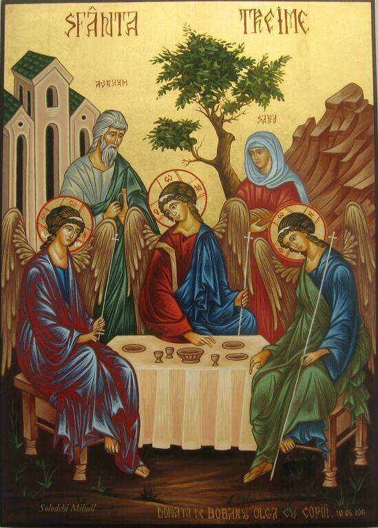 Holy Trinity with Abraham and Sarah