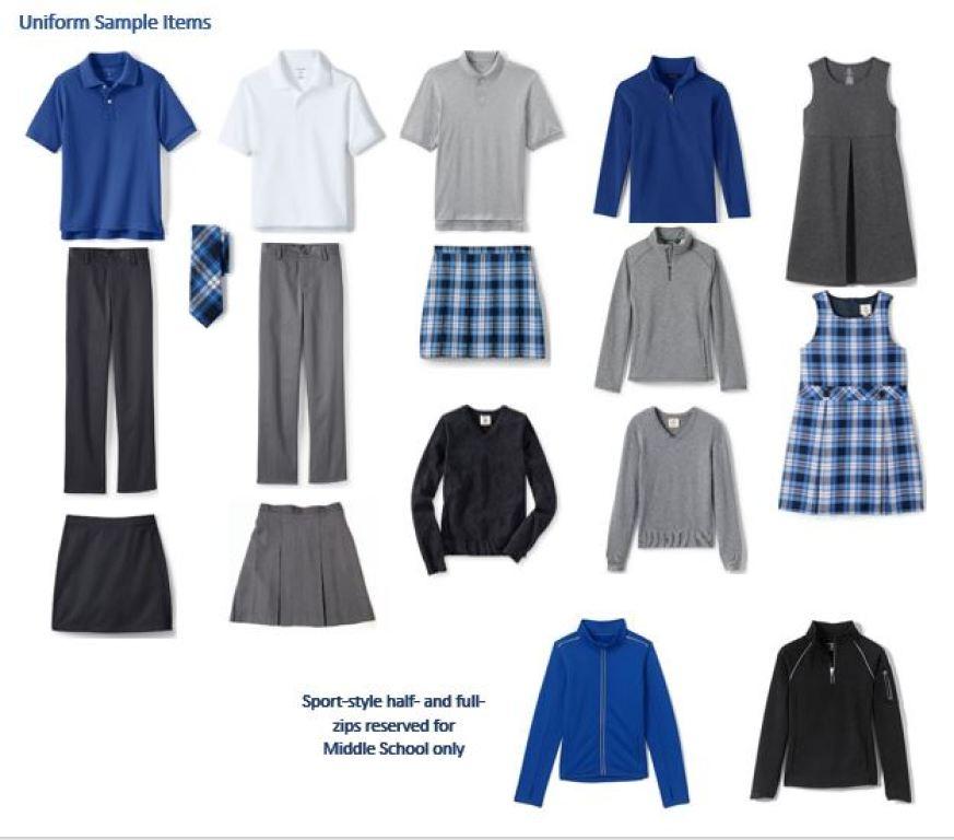 Sample Styles for Stella Maris Academy Uniform