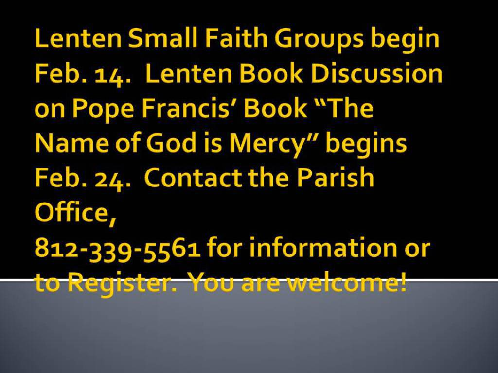 Lenten Small Book and Group Options