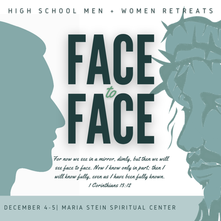 face to face mens and womens high school retreat