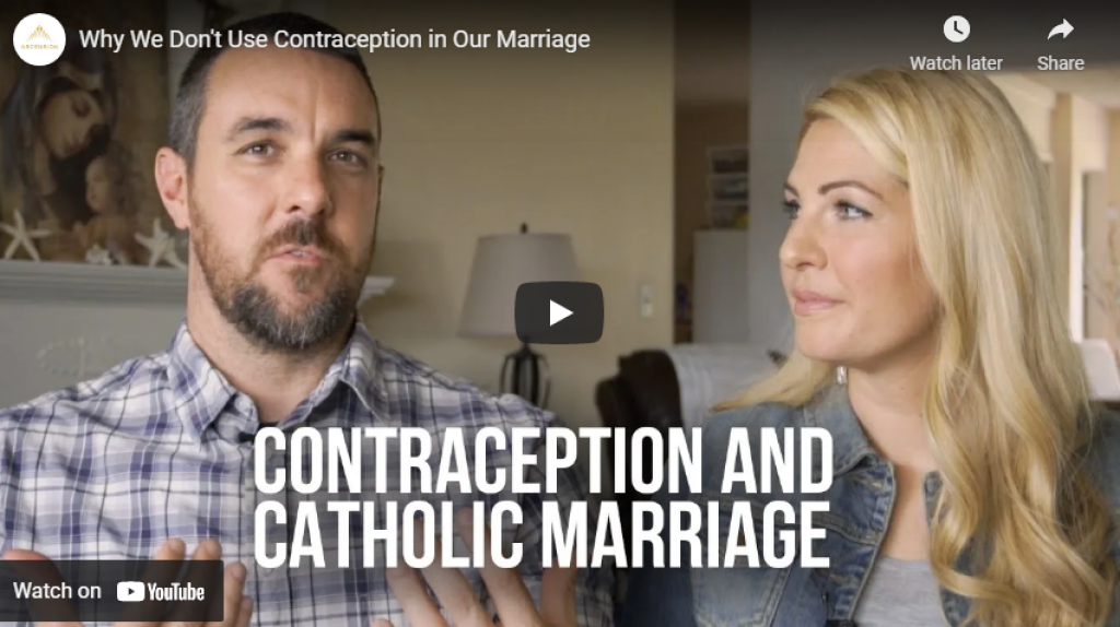 contraception and catholic marriage