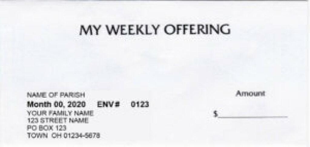 my weekly offering cluster envelope