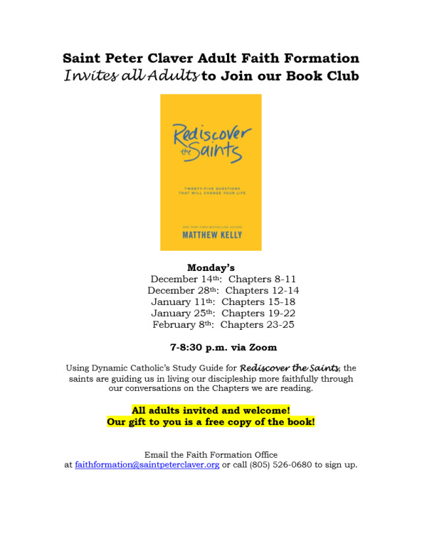 Rediscover the Saints Book Club Invitation