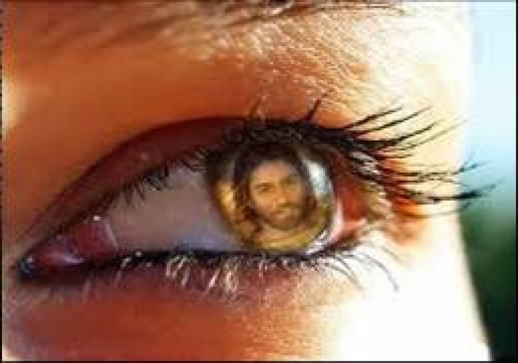 Jesus in Pupil of Eye