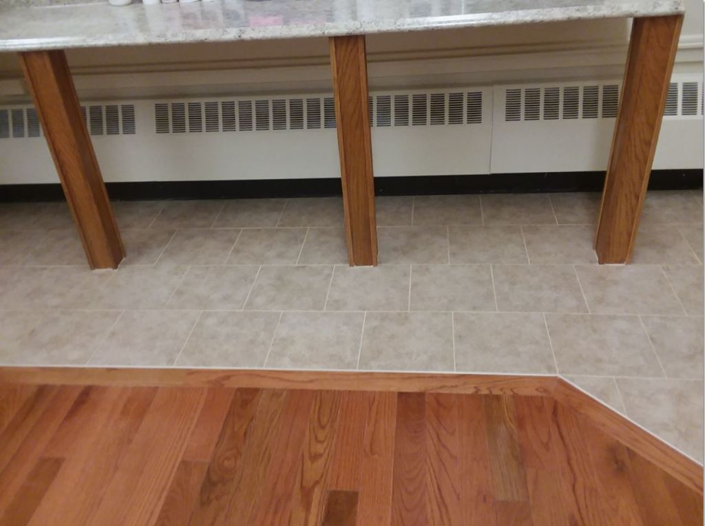 Serving area floor
