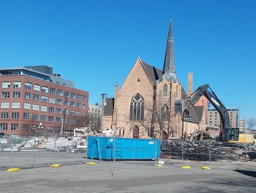 Building rubble remains