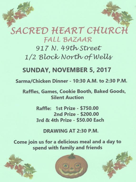 Sacred Heart Fall Bazaar