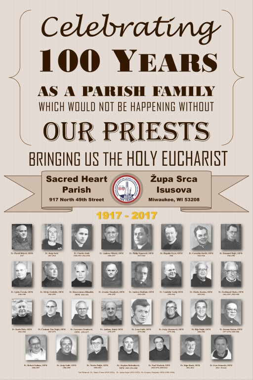 100 years of priests poster