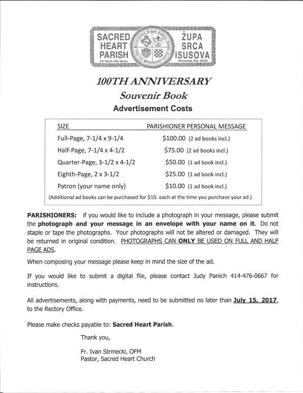 page 1 centennial adbook for parishioners