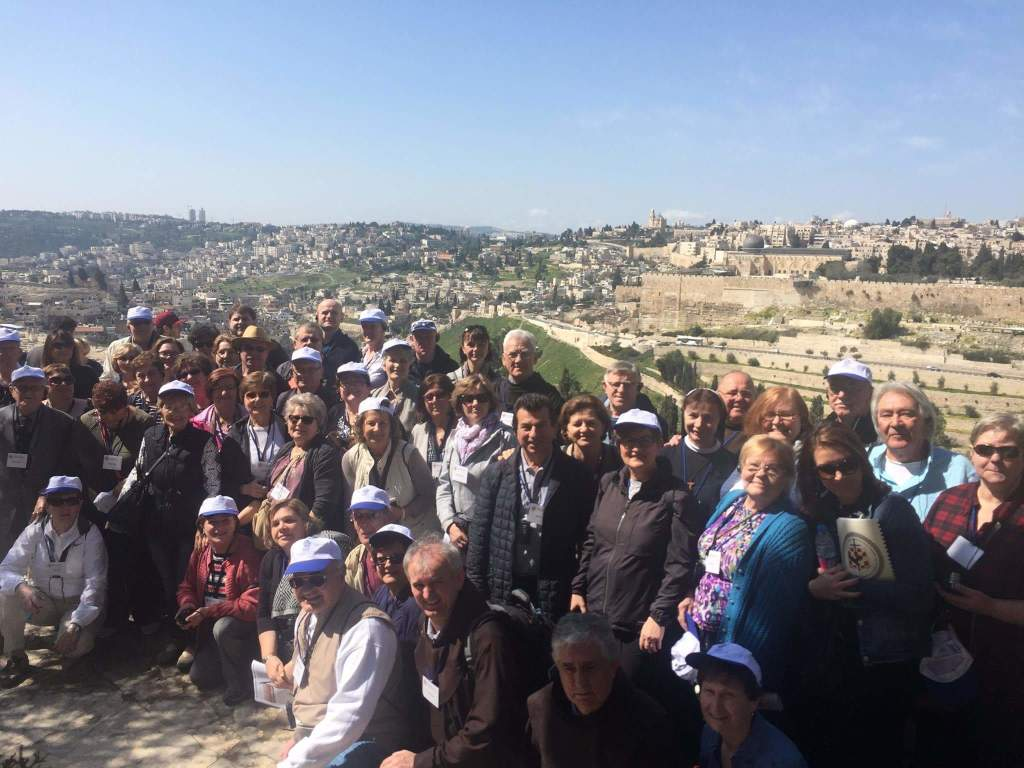 On Mount of Olives overlooking Jerusalem's Old City