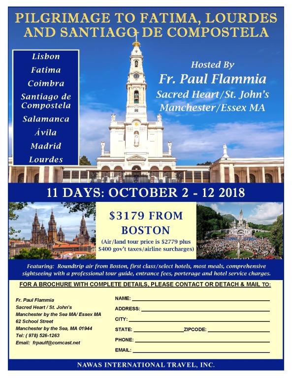 Fatima and Lourdes Pilgrimage with Santiago de Compostela