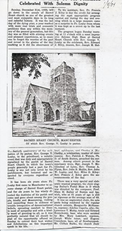 Sacred Heart Church beginnings