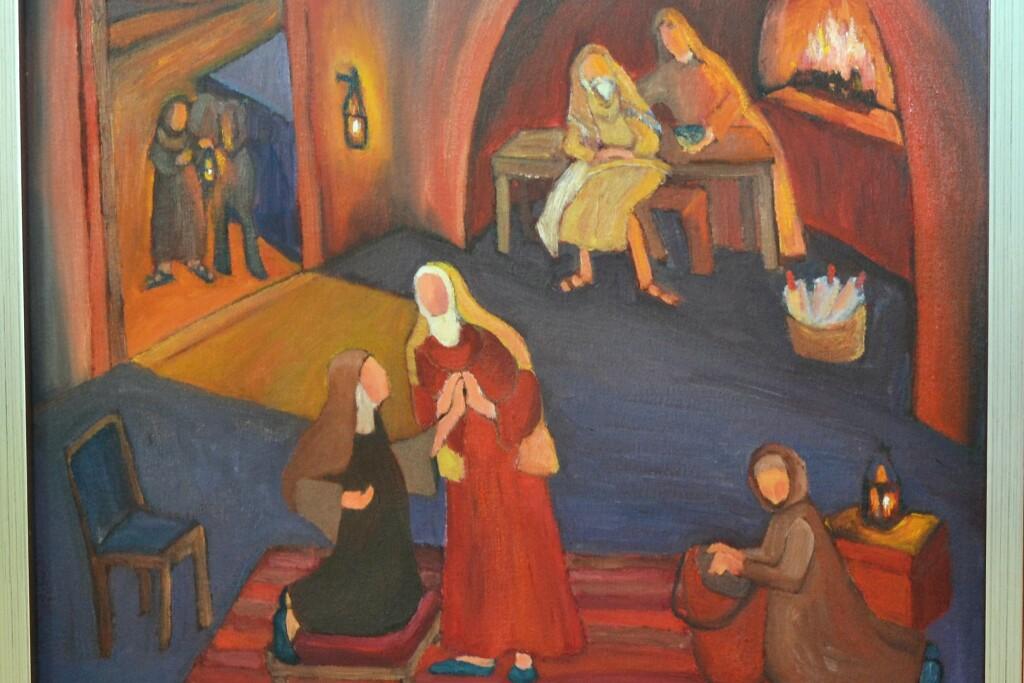 Elizabeth greeted Mary