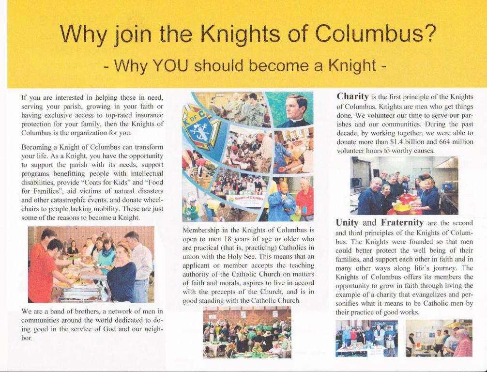 Why Join the Knights of Columbus