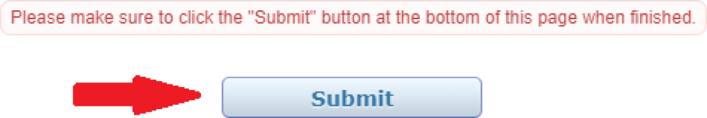 My Profile Submit button