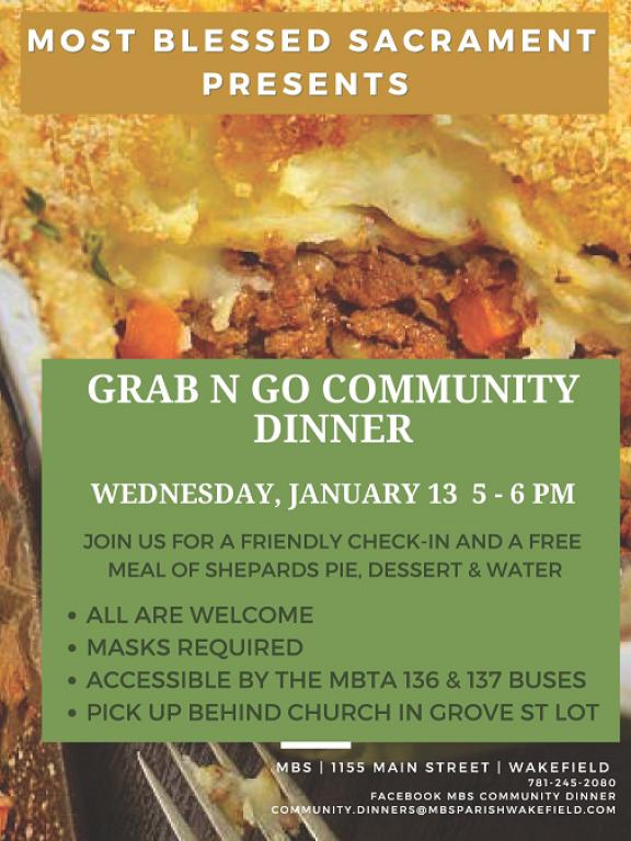 Grab n Go Dinner January