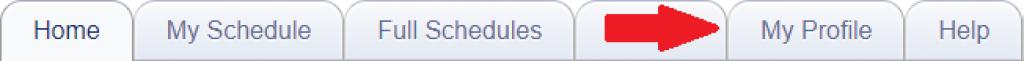 My Profile tab