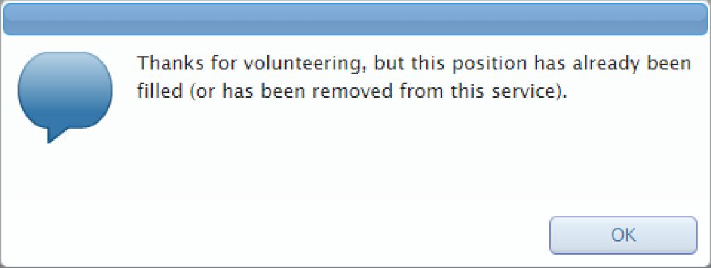 Thanks for volunteering