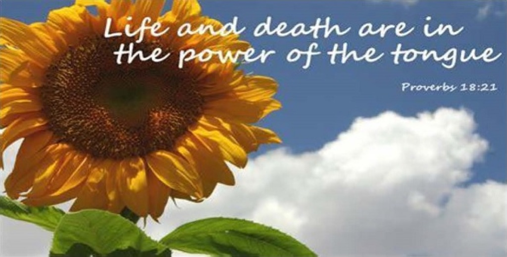 Life and death are in the power of the tongue