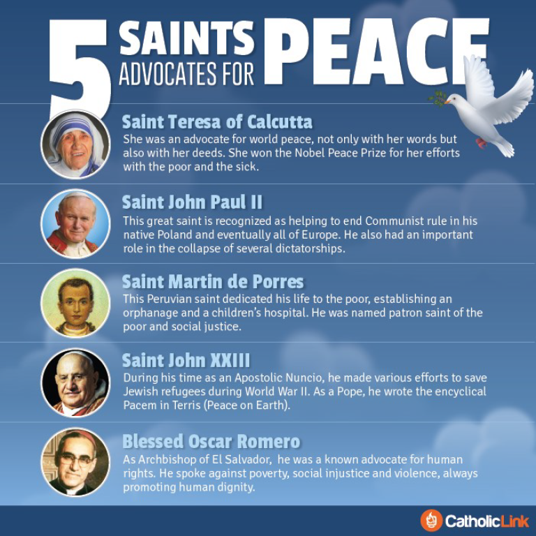 5 Saints Advocates for Peace
