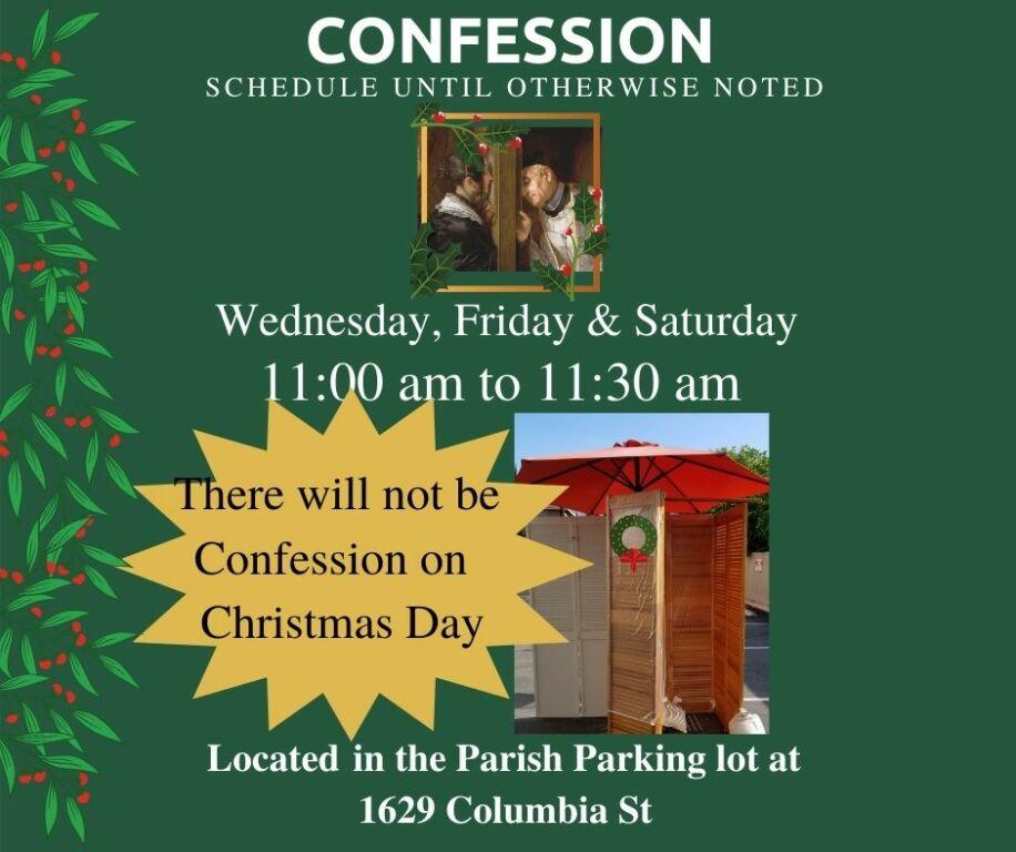 Confession Schedule