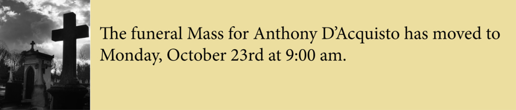 funeral for anthony dacquisto