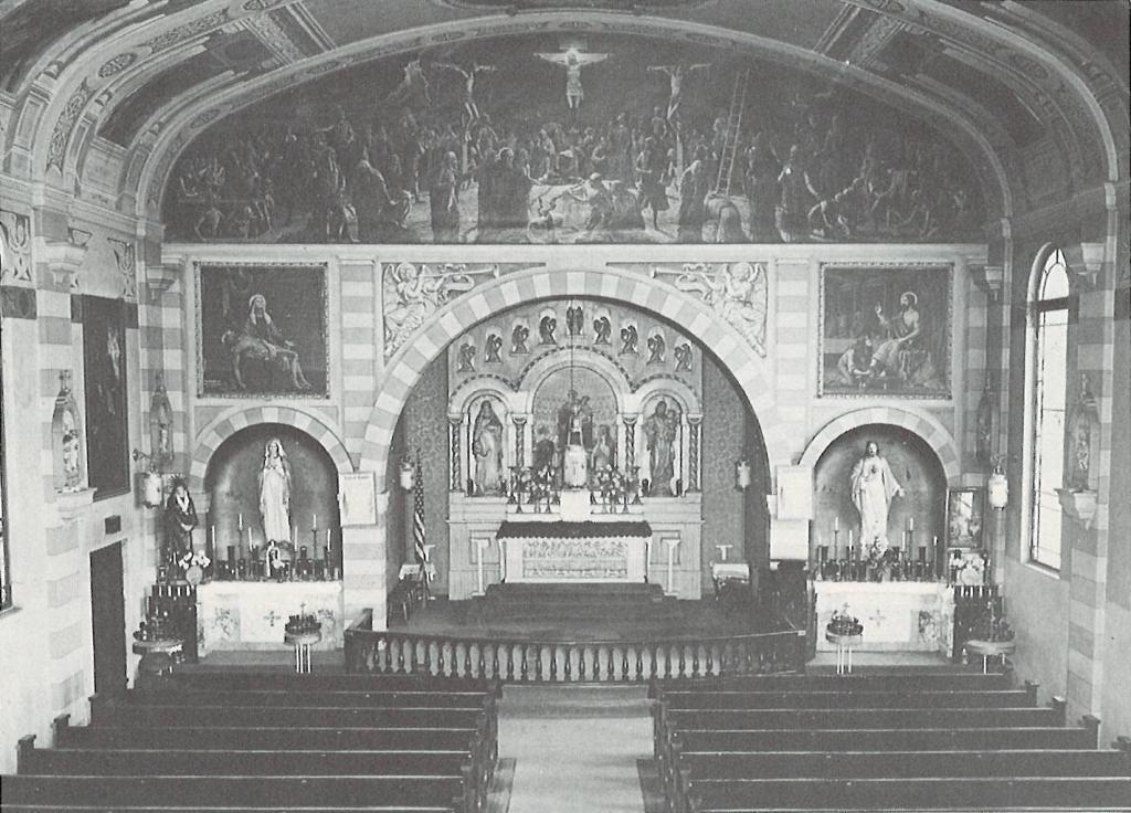 Church Interior during Fr. Pilolla's Pastnate