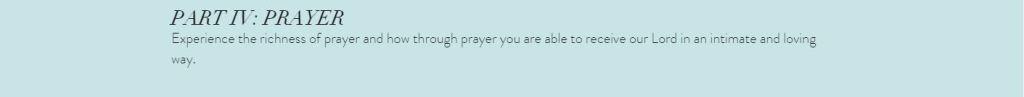 Echo Part IV: Prayer