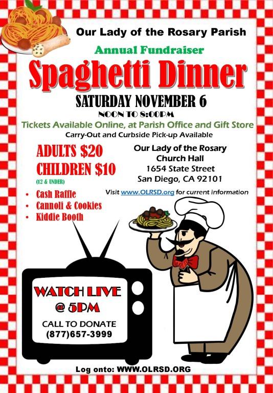Spaghetti Dinner 2021