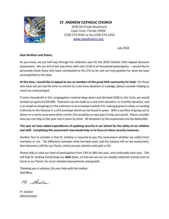 2018 CFA Letter