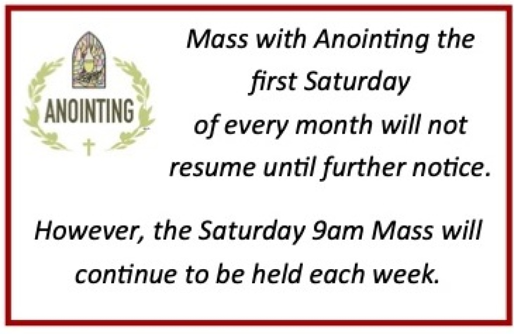 Mass with Anointing Delay Ad