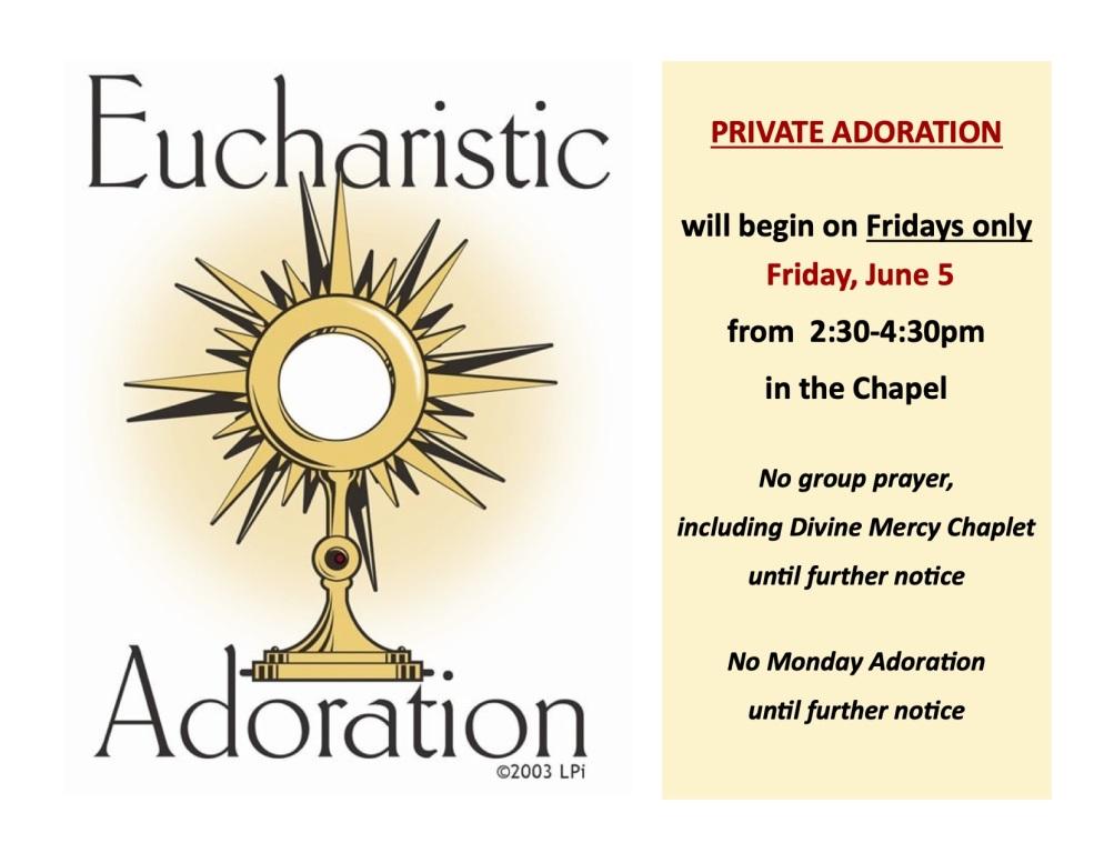 Adoration Resumption Ad