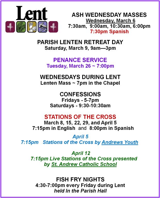 Lenten Events