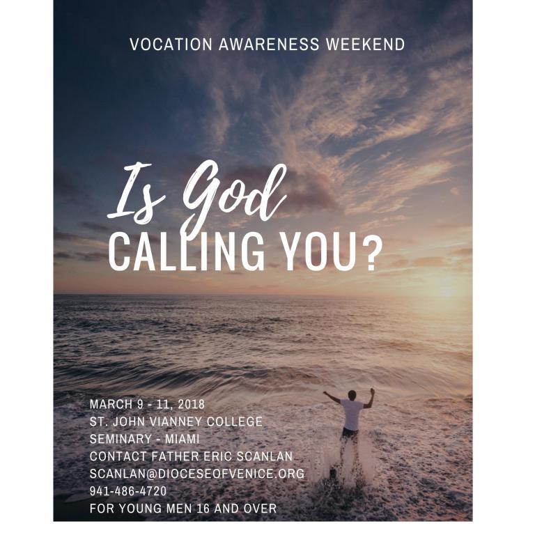 2018 Vocation Weekend Flyer