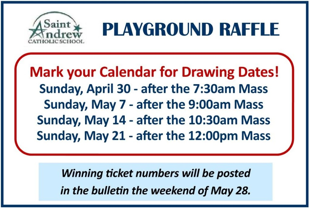 playground raffle ad april 30