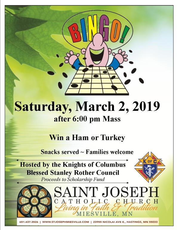 KC's Bingo Flyer March 2019