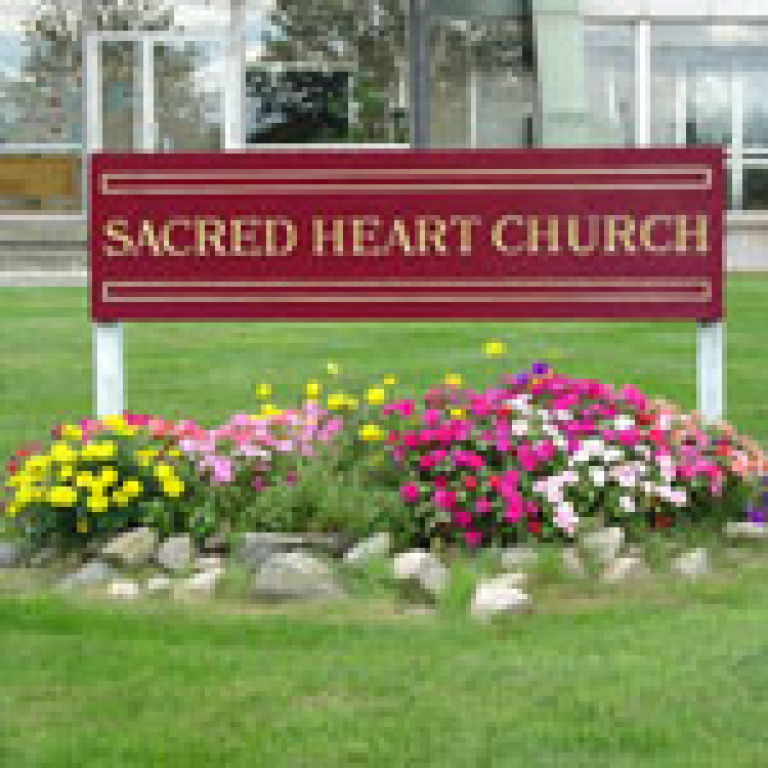 Sacred Heart Church sign
