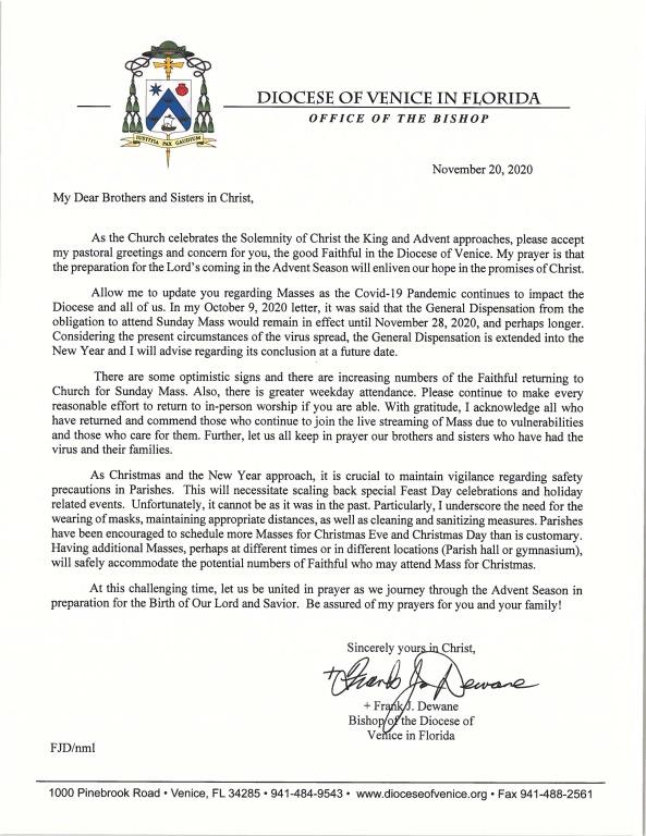 Bishop's Letter 11-20-20