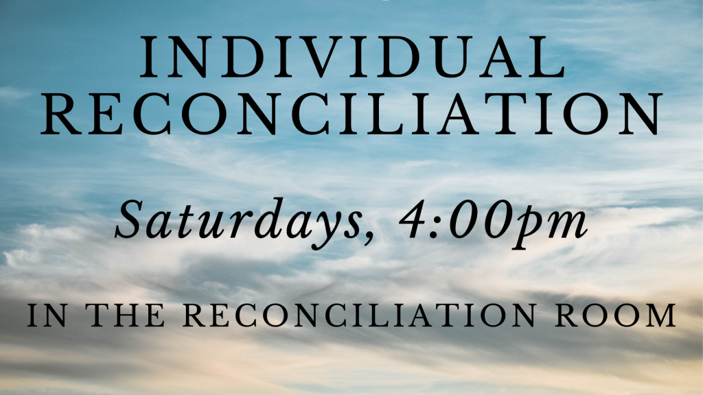 Individual Reconciliation at St. Anthony on the Lake